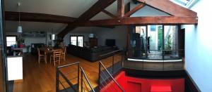 Loft Contemporain et sa cour intérieure